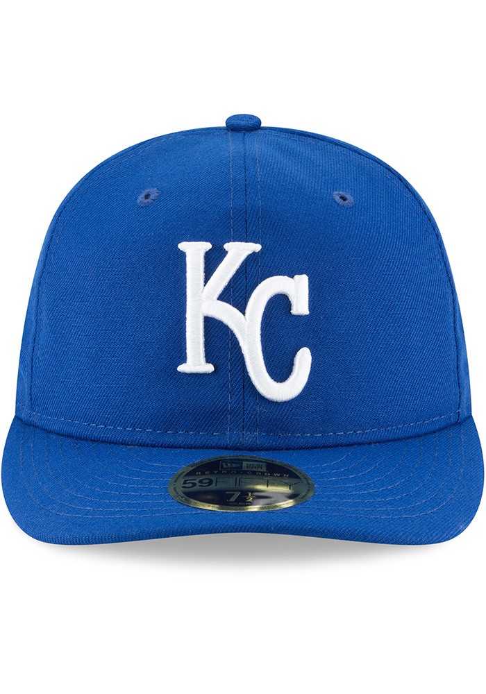 New Era Kansas City Royals Mens Blue Fan Retro Fit 59FIFTY Fitted Hat - Image 3