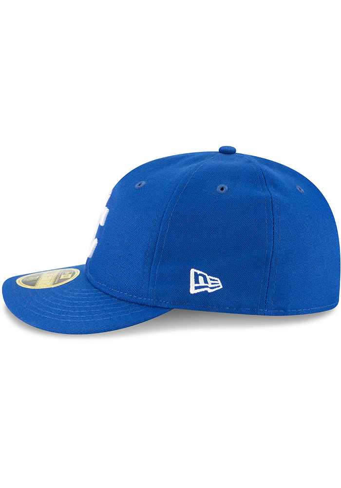 New Era Kansas City Royals Mens Blue Fan Retro Fit 59FIFTY Fitted Hat - Image 4