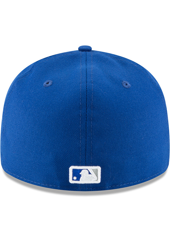 New Era Kansas City Royals Mens Blue Fan Retro Fit 59FIFTY Fitted Hat - Image 5