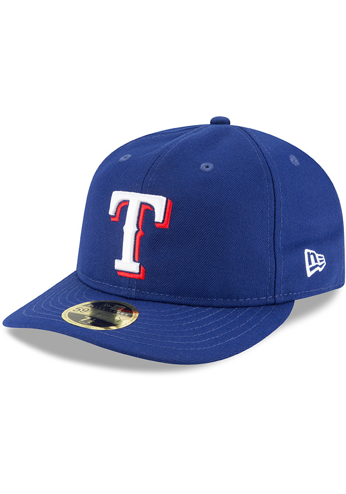 New Era Texas Rangers Mens Blue Fan Retro Fit 59FIFTY Fitted Hat - Image 1