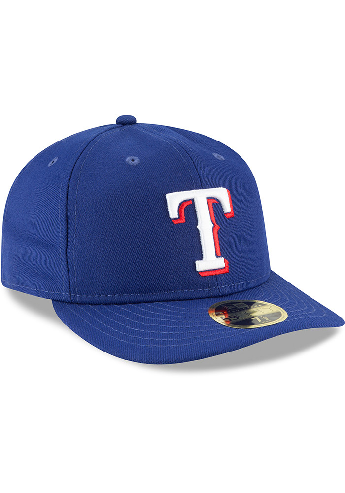 New Era Texas Rangers Mens Blue Fan Retro Fit 59FIFTY Fitted Hat - Image 2