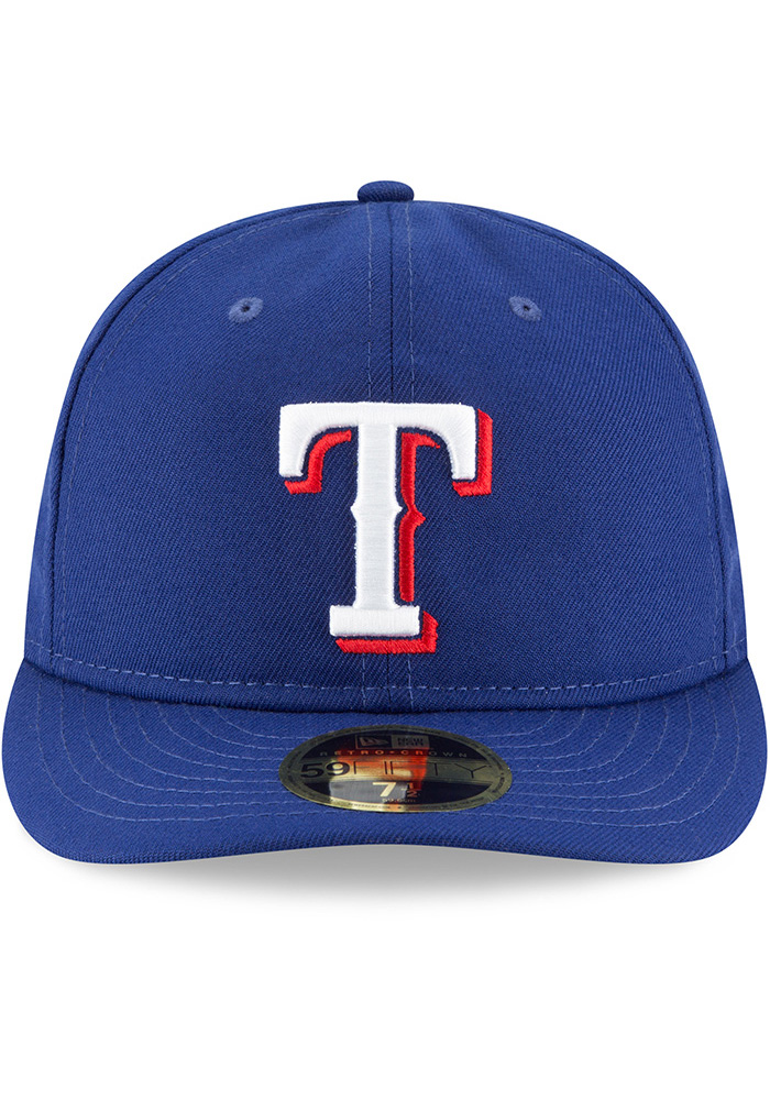 New Era Texas Rangers Mens Blue Fan Retro Fit 59FIFTY Fitted Hat - Image 3