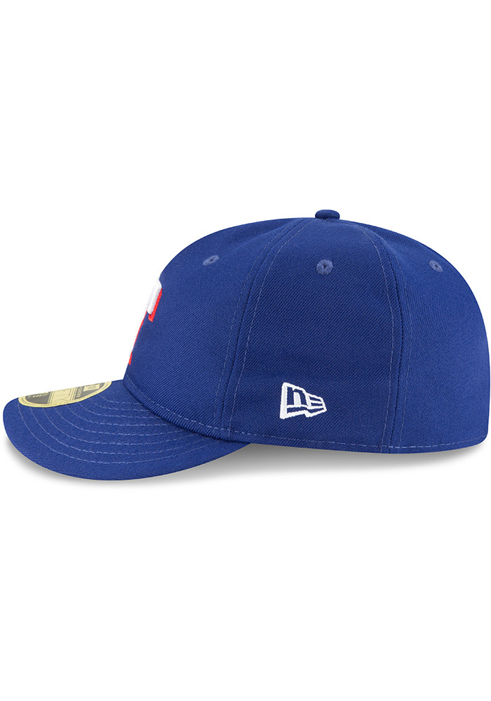 New Era Texas Rangers Mens Blue Fan Retro Fit 59FIFTY Fitted Hat - Image 4