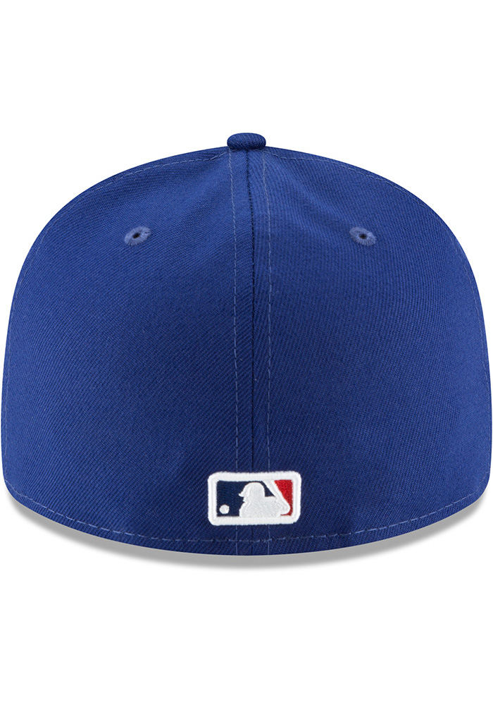 New Era Texas Rangers Mens Blue Fan Retro Fit 59FIFTY Fitted Hat - Image 5