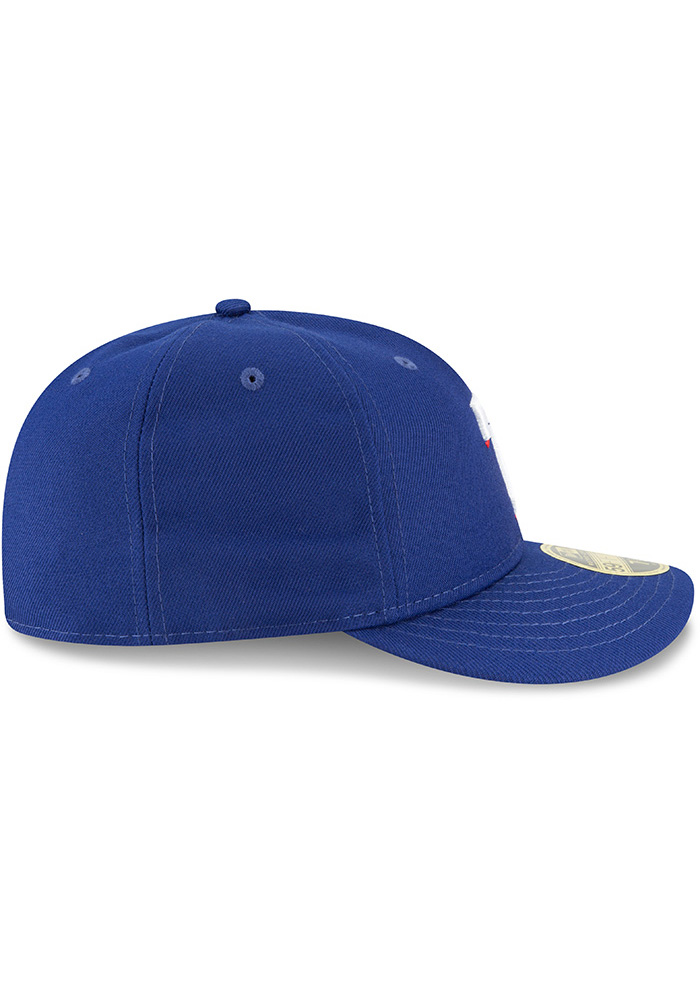 New Era Texas Rangers Mens Blue Fan Retro Fit 59FIFTY Fitted Hat - Image 6