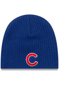 New Era Chicago Cubs Mini Fan Baby Knit Hat - Blue