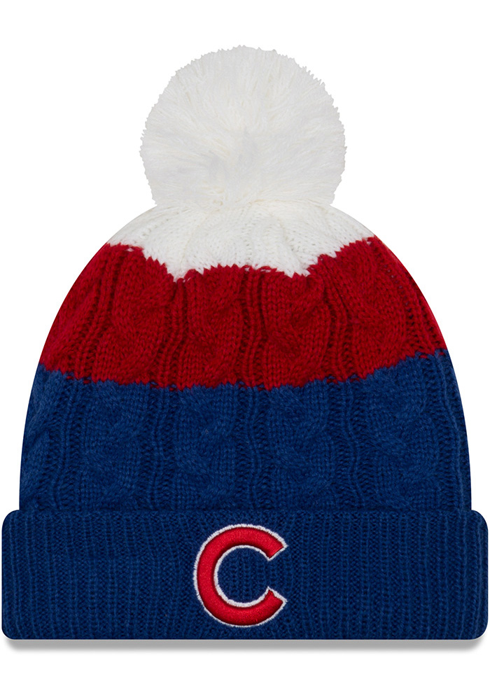 New Era Chicago Cubs Blue Layered Up 2 Womens Knit Hat - Image 1