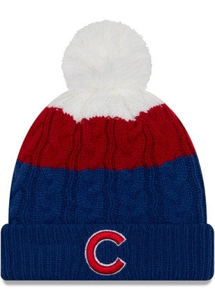 New Era Chicago Cubs Womens Blue Layered Up 2 Knit Hat 77f47d19cf