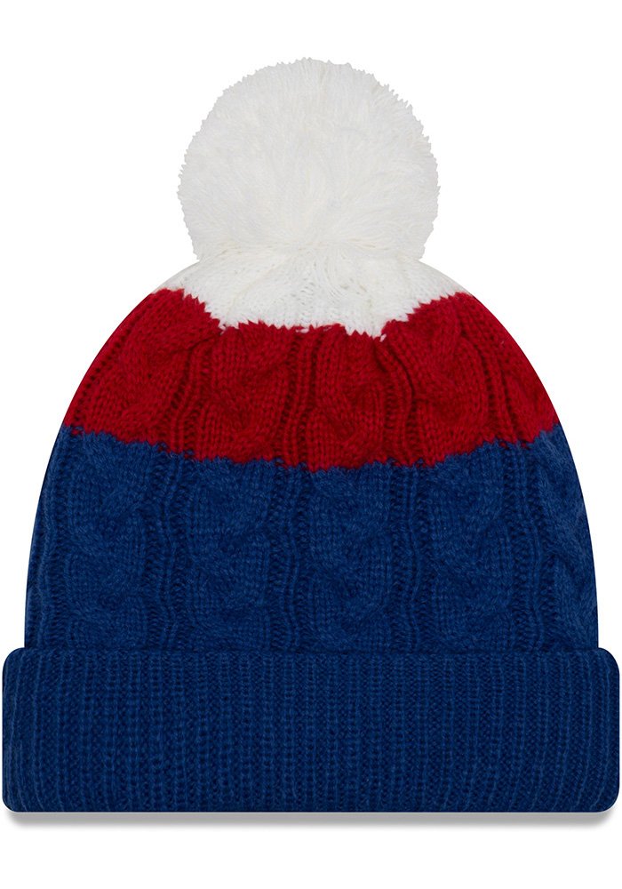 New Era Chicago Cubs Blue Layered Up 2 Womens Knit Hat - Image 2
