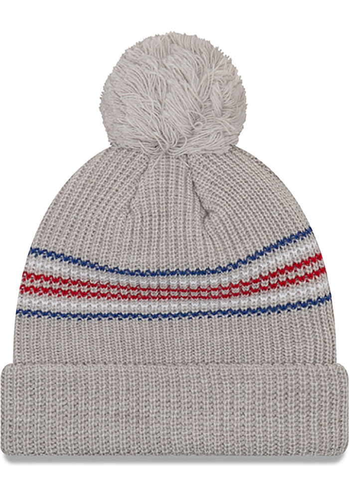 New Era Chicago Cubs Grey Snowy Stripe Womens Knit Hat - Image 2