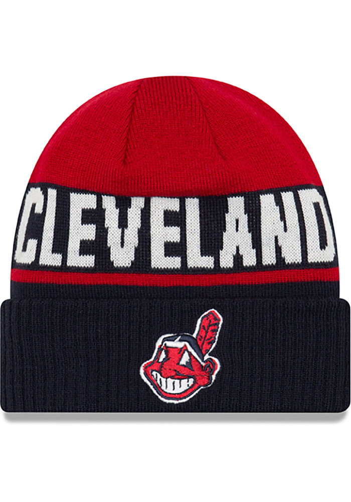 pretty nice 03151 94453 ... 59fifty fitted dd685 f14cd  cheap new era cleveland indians navy blue  chilled cuff knit hat d518e e9202