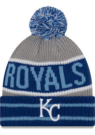 outlet store 04b5e d5216 New Era Kansas City Royals Blue Banner Block Knit Hat
