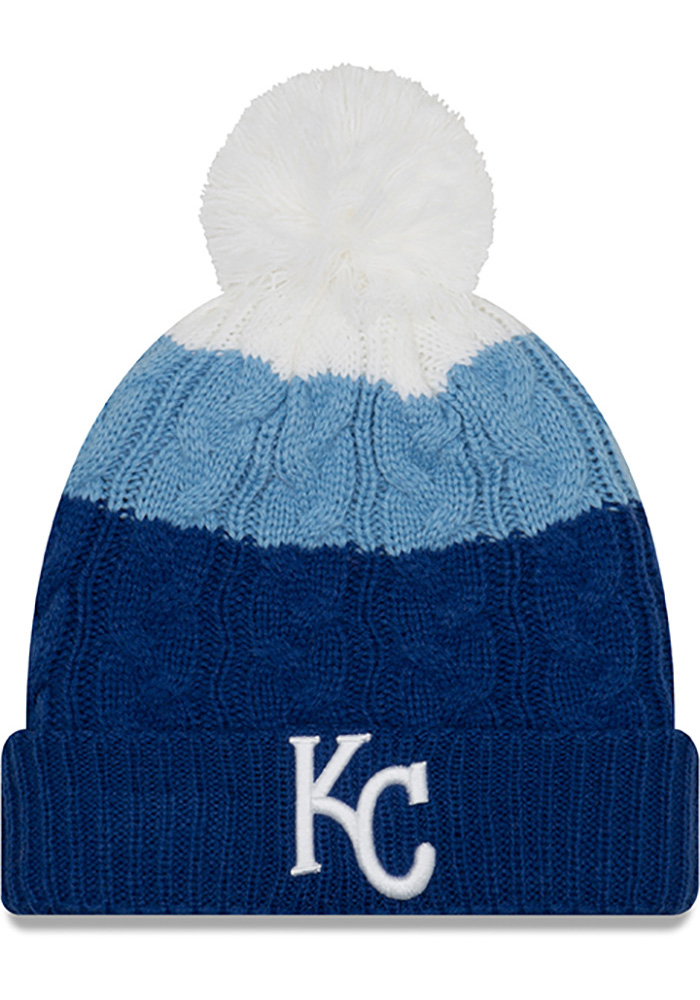 New Era Kansas City Royals Blue Layered Up 2 Womens Knit Hat - Image 1