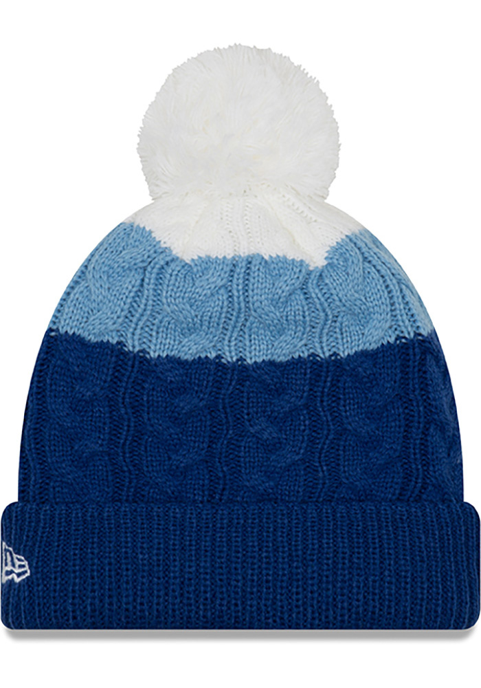 New Era Kansas City Royals Blue Layered Up 2 Womens Knit Hat - Image 2