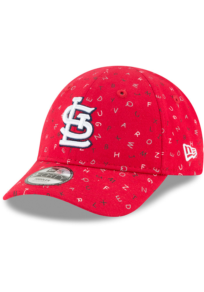 New Era St Louis Cardinals Baby NE Alphabet 9FORTY Adjustable Hat - Red - Image 1