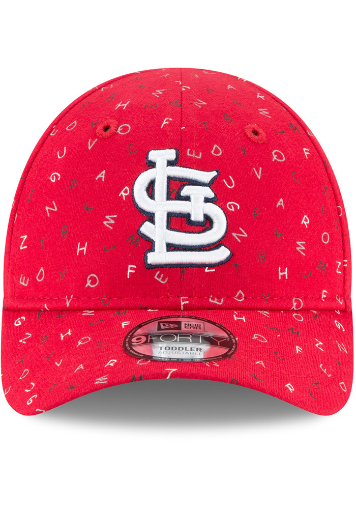 New Era St Louis Cardinals Baby NE Alphabet 9FORTY Adjustable Hat - Red - Image 3