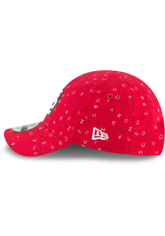 New Era St Louis Cardinals Baby NE Alphabet 9FORTY Adjustable Hat - Red - Image 4
