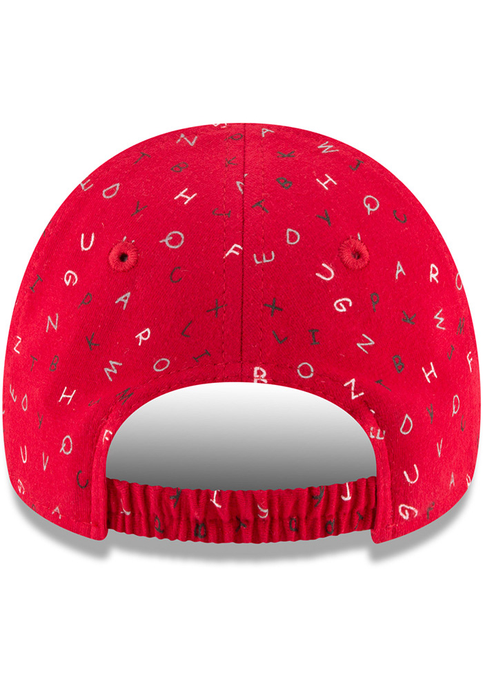 New Era St Louis Cardinals Baby NE Alphabet 9FORTY Adjustable Hat - Red - Image 5