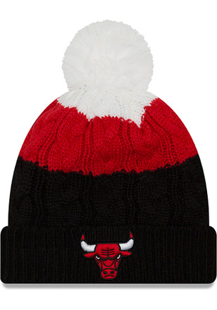 New Era Chicago Bulls Womens Red Layered Up 2 Knit Hat c1a40f4548