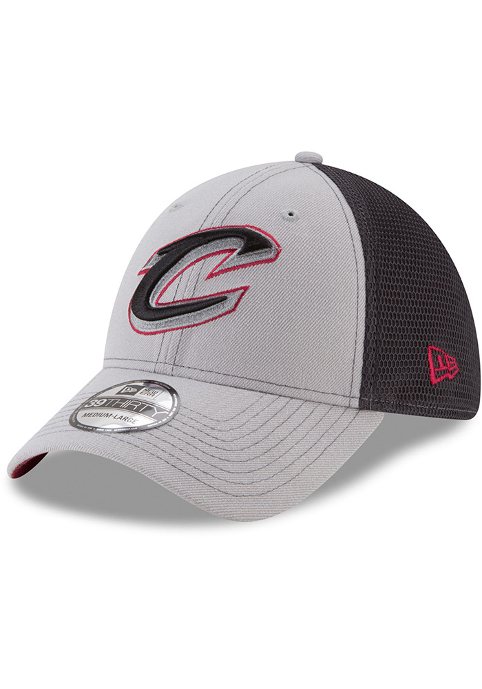 0a9a6c18be3 New Era Cleveland Cavaliers Grey 2T Sided 39THIRTY Flex Hat