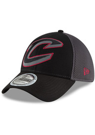 New Era Cleveland Cavaliers Black Megaflect Neo 39THIRTY Flex Hat
