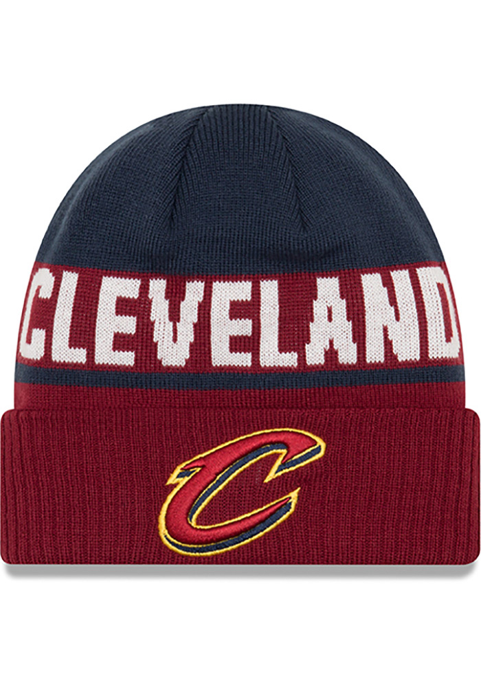 4ee19763193 New Era Cleveland Cavaliers Maroon Chilled Cuff Knit Hat