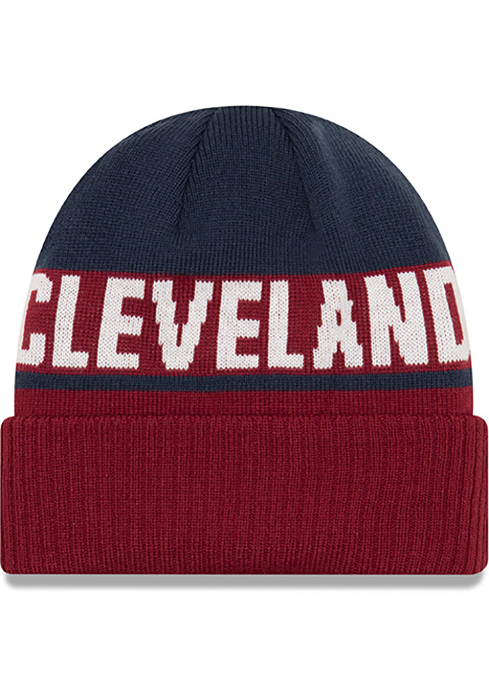New Era Cleveland Cavaliers Maroon Chilled Cuff Mens Knit Hat - Image 2