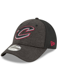New Era Cleveland Cavaliers Black Shaded Front Jr 9FORTY Youth Adjustable Hat