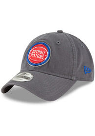 New Era Detroit Pistons Core Classic Twill 9TWENTY Adjustable Hat - Grey