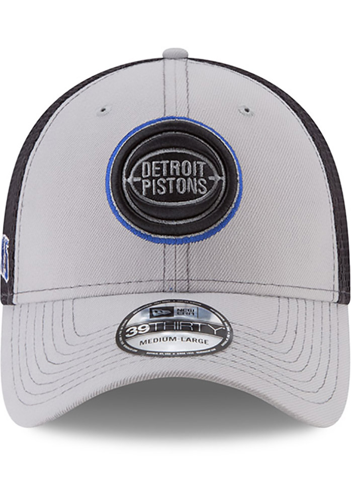 low priced e0674 f47fc New Era Detroit Pistons Mens Grey 2T Sided 39THIRTY Flex Hat - Image 3