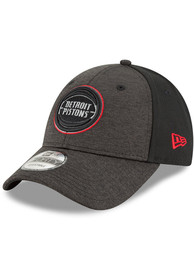 New Era Detroit Pistons Black Shaded Front Jr 9FORTY Youth Adjustable Hat