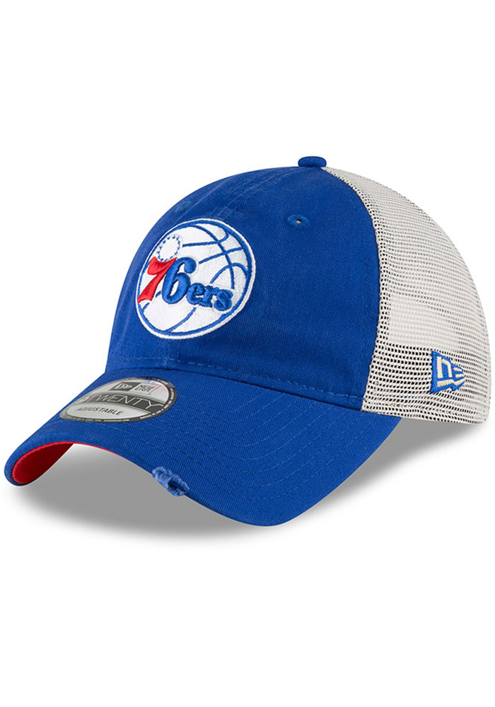c15d31ee23c New Era Philadelphia 76ers Blue Stated Back JR 9TWENTY Youth Adjustable Hat