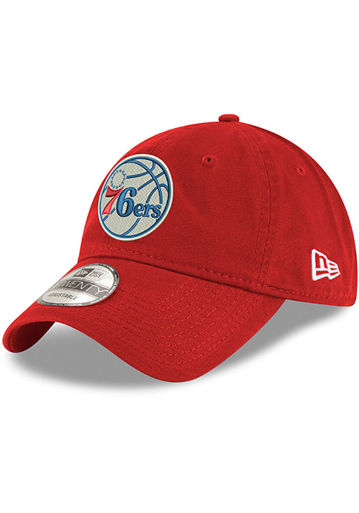 New Era Philadelphia 76ers Blue Core Classic Twill Jr 9TWENTY Youth Adjustable Hat - Image 1