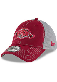 New Era Arkansas Razorbacks Black Fan Mesh 39THIRTY Flex Hat