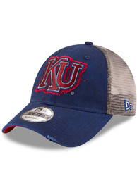 finest selection 230e4 1ae15 New Era Kansas Jayhawks Vintage Truckered Up 9FORTY Adjustable Hat - Blue
