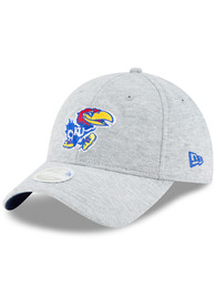 best website 46a86 ba5a3 New Era Kansas Jayhawks Womens Grey Grayed Glimpse 9TWENTY Adjustable Hat