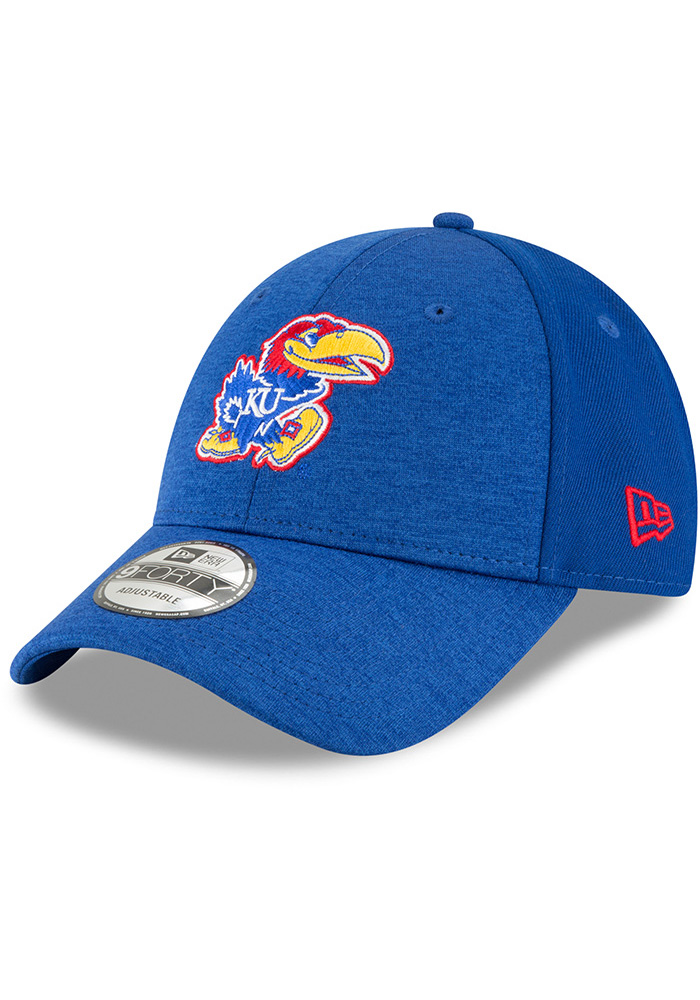 df27d776166 New Era Kansas Jayhawks Black Shaded Front Jr 9FORTY Youth Adjustable Hat