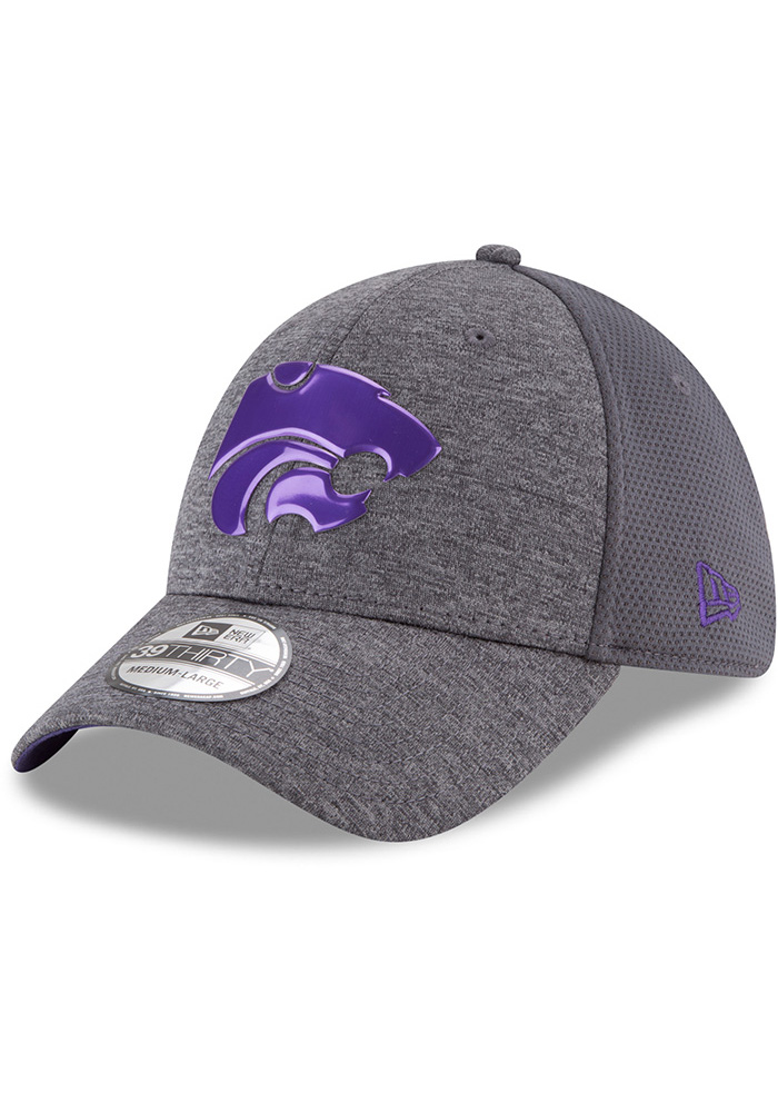 New Era K-State Wildcats Mens Grey Shaded Luster 39THIRTY Flex Hat - Image 1