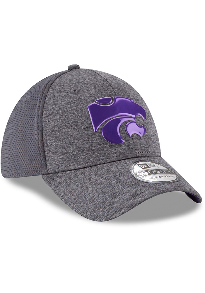 New Era K-State Wildcats Mens Grey Shaded Luster 39THIRTY Flex Hat - Image 2