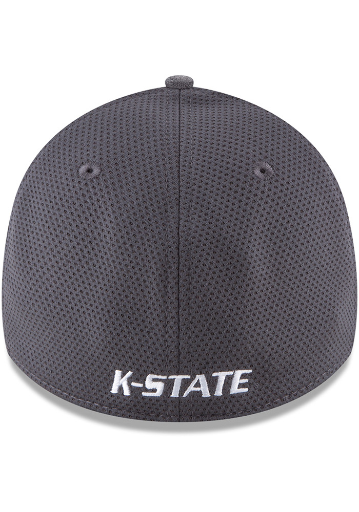 New Era K-State Wildcats Mens Grey Shaded Luster 39THIRTY Flex Hat - Image 5