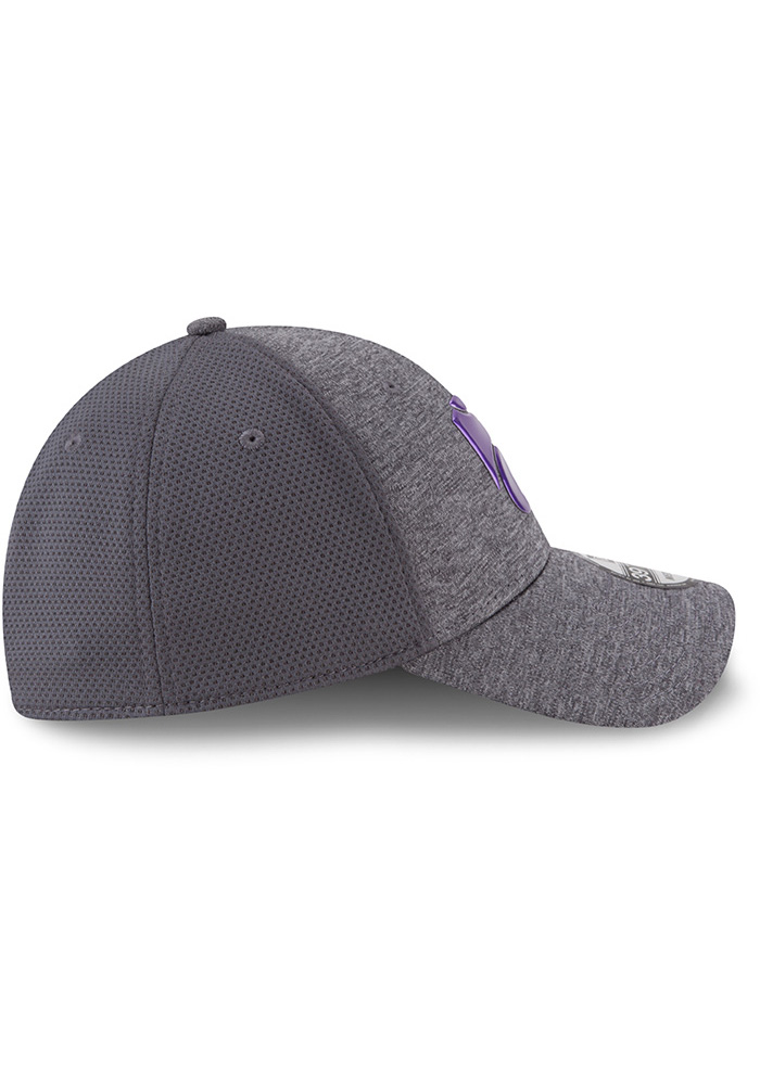 New Era K-State Wildcats Mens Grey Shaded Luster 39THIRTY Flex Hat - Image 6