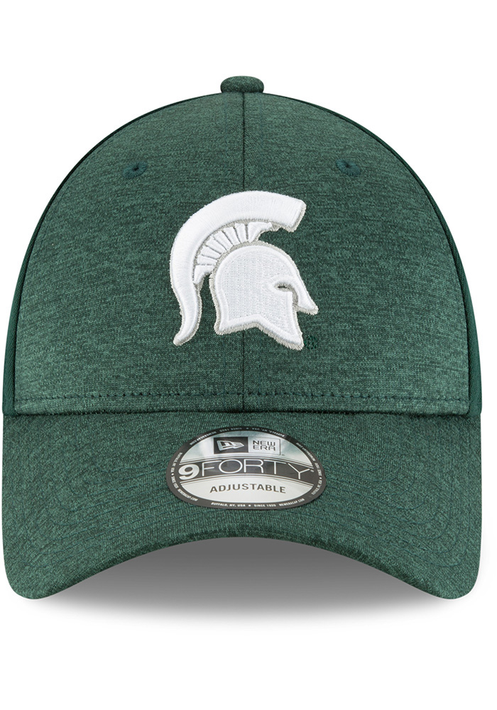 eb2d4d2539a New Era Michigan State Spartans Black Shaded Front 9FORTY Adjustable Hat