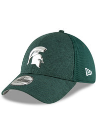 New Era Michigan State Spartans Green Shaded Luster 39THIRTY Flex Hat