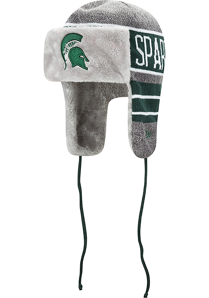 New Era Michigan State Spartans Grey Frosty Trapper Mens Knit Hat - Image 1 5c1c0821c