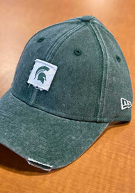 New Era Michigan State Spartans Womens Green Loyal Patch 9TWENTY Adjustable Hat