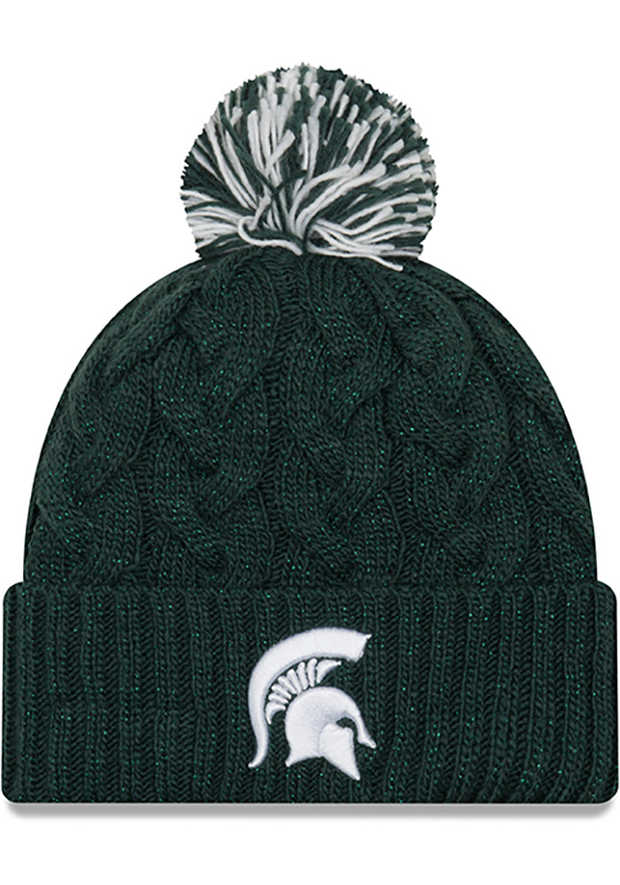 new style 5b393 c61c5 ... get new era michigan state spartans womens blue cozy cable knit hat  87a87 90f5c