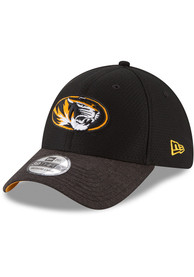 565d4354182 New Era Missouri Tigers Black Popped Shadow 39THIRTY Flex Hat
