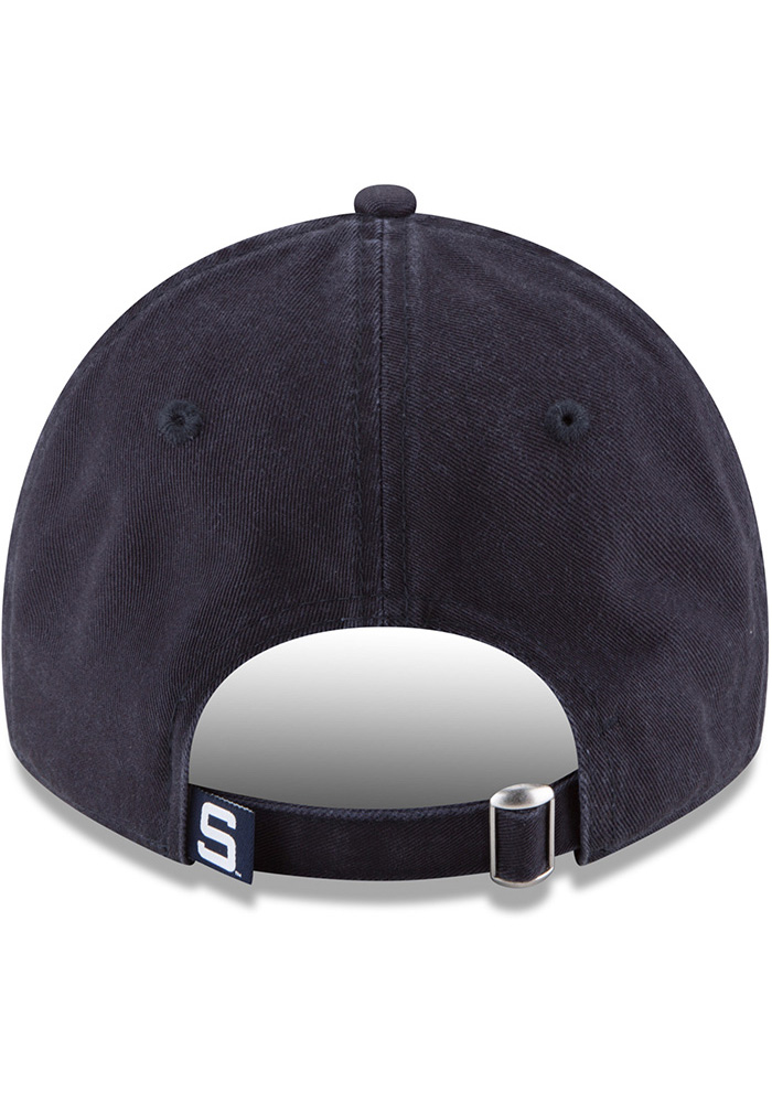New Era Penn State Nittany Lions Mens Grey Vintage Core Classic Twill 9TWENTY Adjustable Hat - Image 5