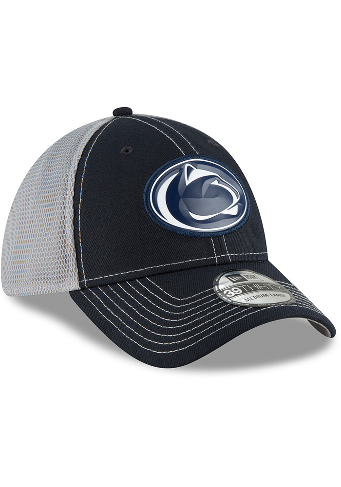 New Era Penn State Nittany Lions Mens Navy Blue Fan Mesh 39THIRTY Flex Hat - Image 2