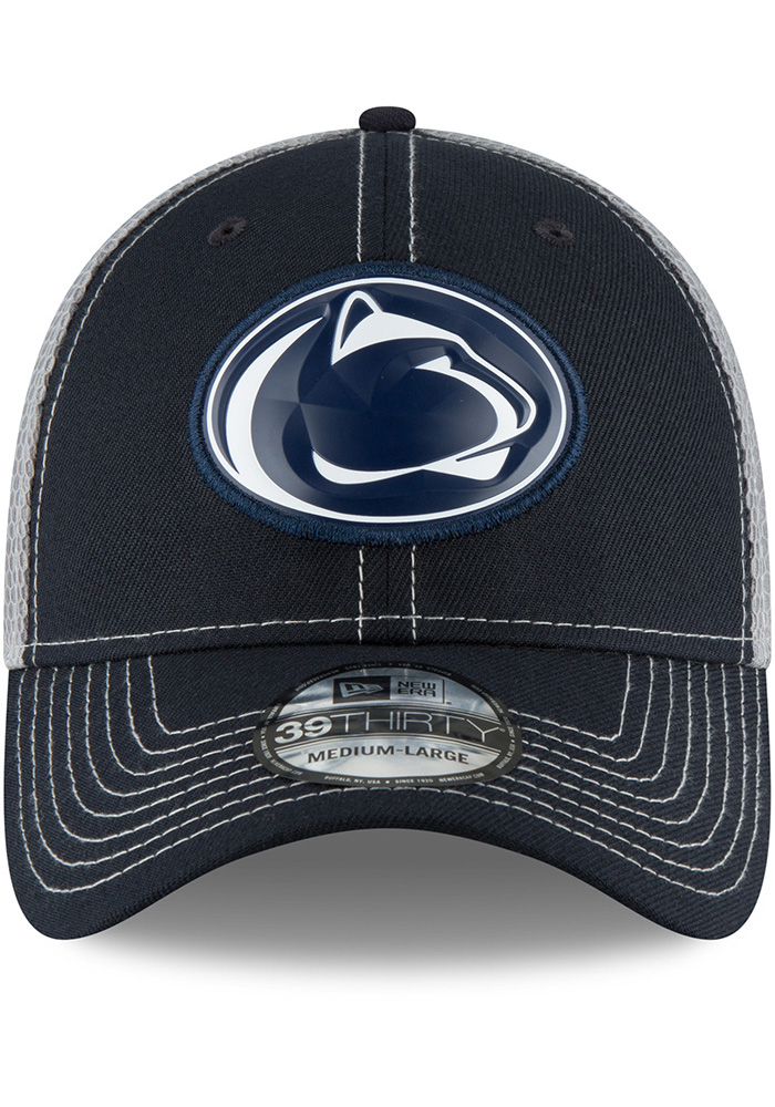 New Era Penn State Nittany Lions Mens Navy Blue Fan Mesh 39THIRTY Flex Hat - Image 3